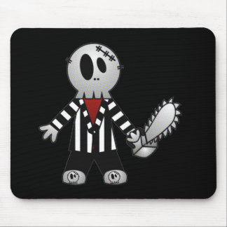 PATCHY CHAINSAW HALLOWEEN SKELETON MOUSE PAD
