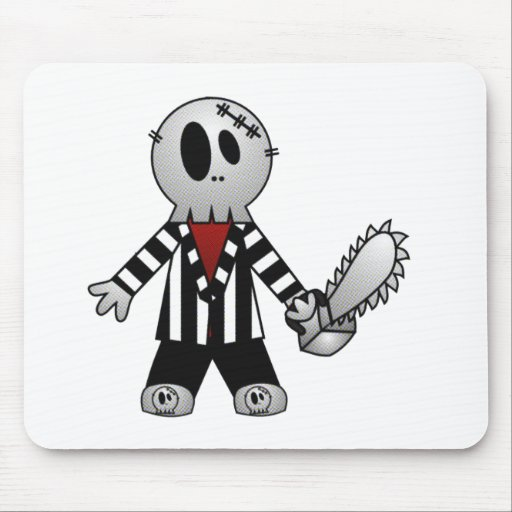 PATCHY CHAINSAW HALLOWEEN SKELETON MOUSEPAD