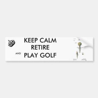 Patent Golf Ball on Tee Bumper Sticker