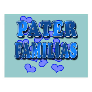 Pater Familias in Blue Post Cards
