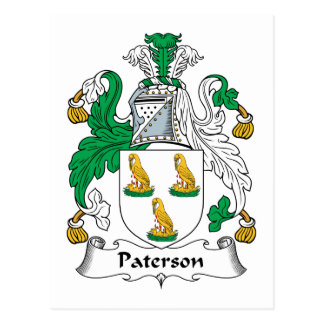 Paterson Family Crest Post Card