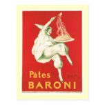 Pates Baroni Vintage Food Ad Art Post Card