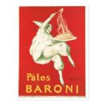 Pates Baroni Vintage Food Ad Art Postcard