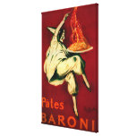 Pates Baroni Vintage PosterEurope Stretched Canvas Print