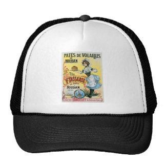Pates De Volailles Houdan Vintage Food Ad Art Mesh Hat
