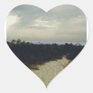 Path Heart Sticker