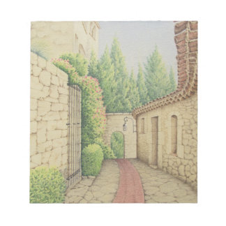 Path in Eze, Cote D'Azur France in Pastel Notepad