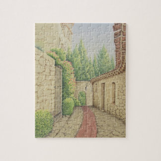 Path in Eze, Cote D'Azur France in Pastel Puzzle