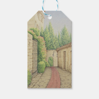 Path in Eze, Cote D'Azur France Pastel Gift Tag
