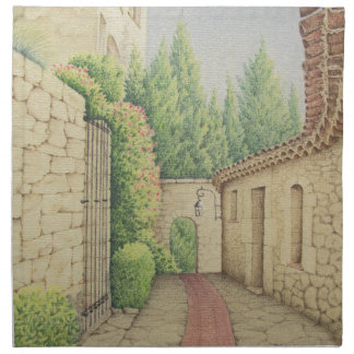 Path in Eze, Cote D'Azur In Pastel Cloth Napkins