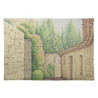 Path in Eze, Cote D'Azur in Pastel Placemat