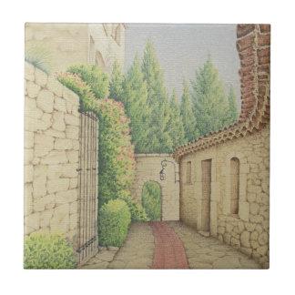 Path in Eze, Cote D'Azur Pastel Ceramic Tile