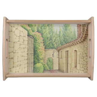 Path in Eze, Cote D'Azur Pastel Serving Tray