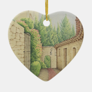 Path in Eze, France Mothers Day Heart Decoration Ceramic Heart Decoration