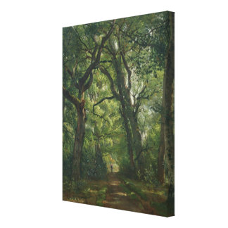 Path in the Forest, 1864 Canvas Print