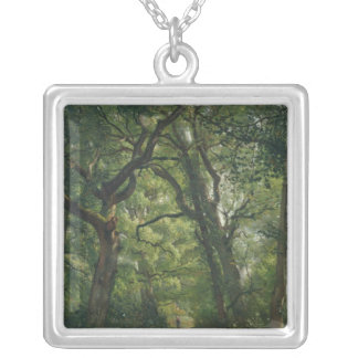 Path in the Forest, 1864 Square Pendant Necklace