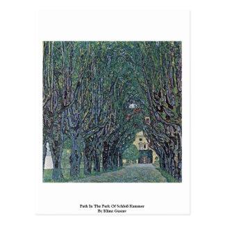 Path In The Park Of Schloß Kammer By Klimt Gustav Post Card