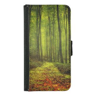 Path In Woods Samsung Galaxy S5 Wallet Case