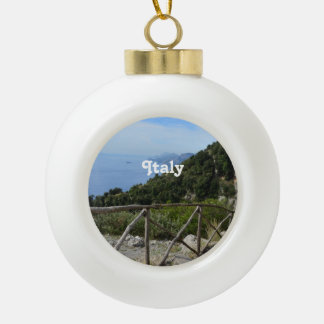 Path of Gods Amalfi Ceramic Ball Christmas Ornament