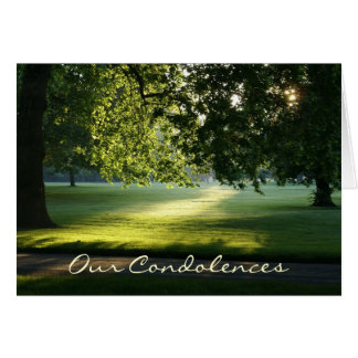 Path of Light Condolence Card