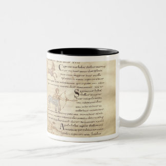 Path of the moon across the constellations Two-Tone mug