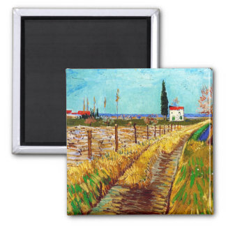 Path through a Field with Willows Van Gogh Magnet