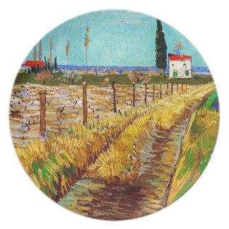 Path through a Field with Willows Van Gogh Plates