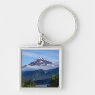 Path Through Alaska Silver-Colored Square Key Ring