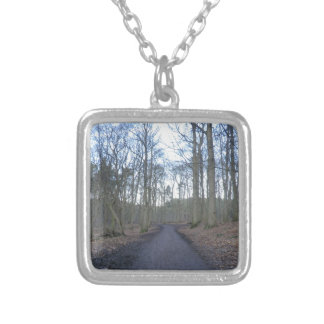 Path Through Delamere Forest in Cheshire Custom Necklace