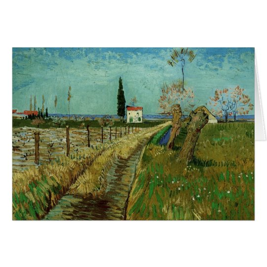 Path Through Field with Willows, Vincent van Gogh Card