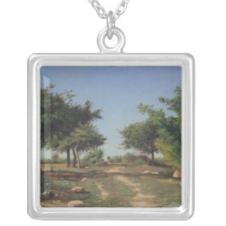 Path through the Apples Trees Silver Plated Necklace