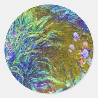 Path through the Irises Claude Monet Round Sticker