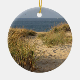 Path through the sand dunes round ceramic decoration