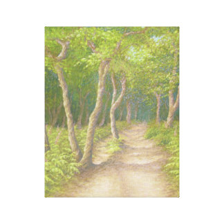 Path Through the Trees, Leith Hill Canvas Print
