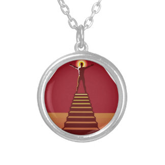 Path to Enlightenment Round Pendant Necklace