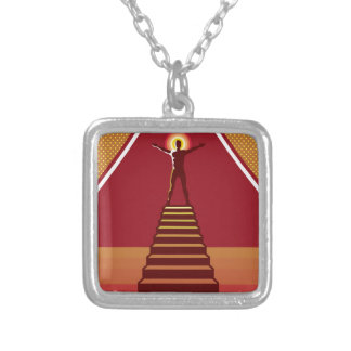 Path to Enlightenment Square Pendant Necklace