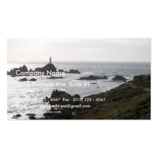 Path To La Corbiere Flooded With High Tide At Suns Business Card