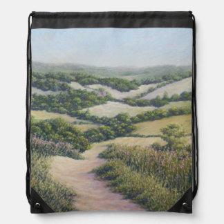 Path to Newlands Corner, Surrey Drawstring Bag