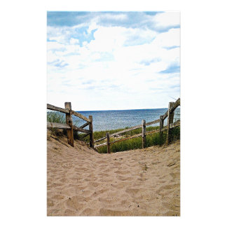 Path to the beach custom stationery