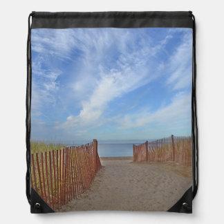 Path To The Beach Drawstring Bag