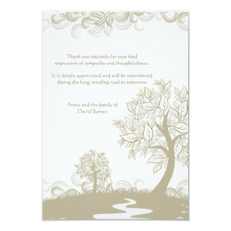 Path to Tomorrow Bereavement Thank You Card 9 Cm X 13 Cm Invitation Card