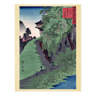 Path to Zenkoji Temple by Utagawa,Hiroshige Postcard