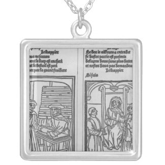 Pathelin and the Draper and Pathelin Silver Plated Necklace