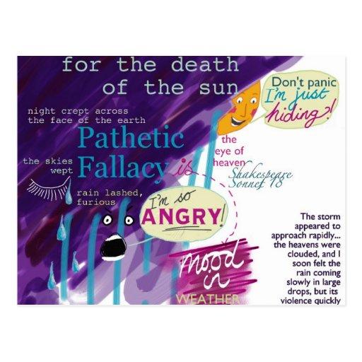 Pathetic Fallacy Literature Postcard KS2 KS3
