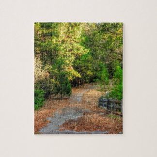 Pathway across a bridge in Northern California Jigsaw Puzzle