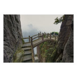 Pathway and small bridge, Yellow Mountain, 2 Print