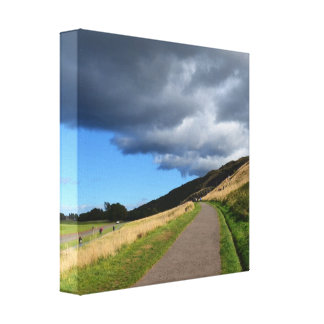 Pathway at Arthur's Seat Stretched Canvas Prints