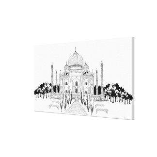 Pathway by Taj Mahal Stretched Canvas Prints