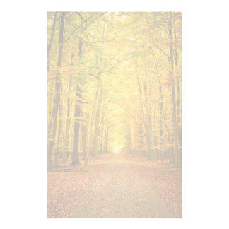 Pathway in the autumn forest customized stationery