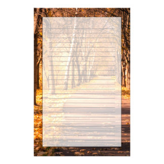 Pathway Through The Autumn Forest Personalised Stationery